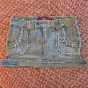 Stretch Denim Mini Skirt Size 29 by Guess Jeans